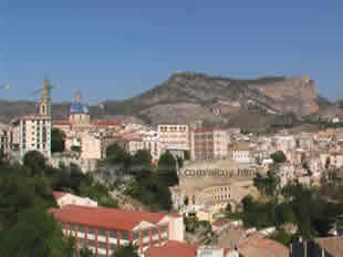View on the City of Alcoy at the Costa Blanca Spain