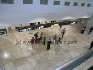 Alicante Airport in Spain - Arrival area