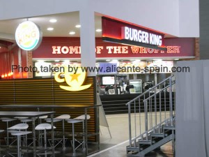 Burger King in Departure Area of Alicante Airport