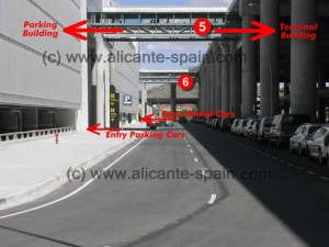 Alicante Airport walking tunnels to car hire parking