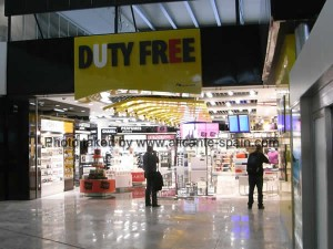 Duty Free Shop at Alicante Airport