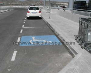 Parking for Handicapped at Alicante Airport