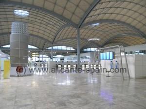 Alicante Airport Terminal Building Departure Area