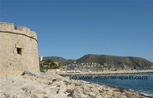 The harbor area of Moraira