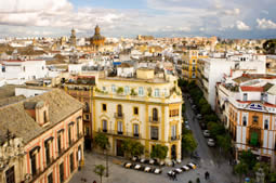 City Overview of Seville in Spain