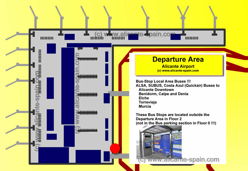 alicante airport terminal map Alicante Airport Bus alicante airport terminal map