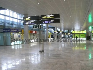 Counters of Car Hire Companies at Alicante Airport Arrival area