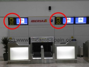 Check In Desk Ibera at Alicante airport