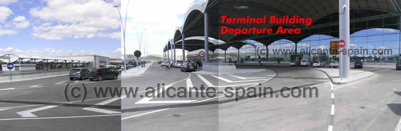Drop zone outside Alicante airport departure level