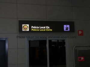 Lost and Found Office of Local Police Elche at Alicante Airport