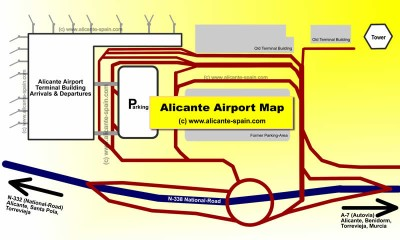 Alicante Airport Map