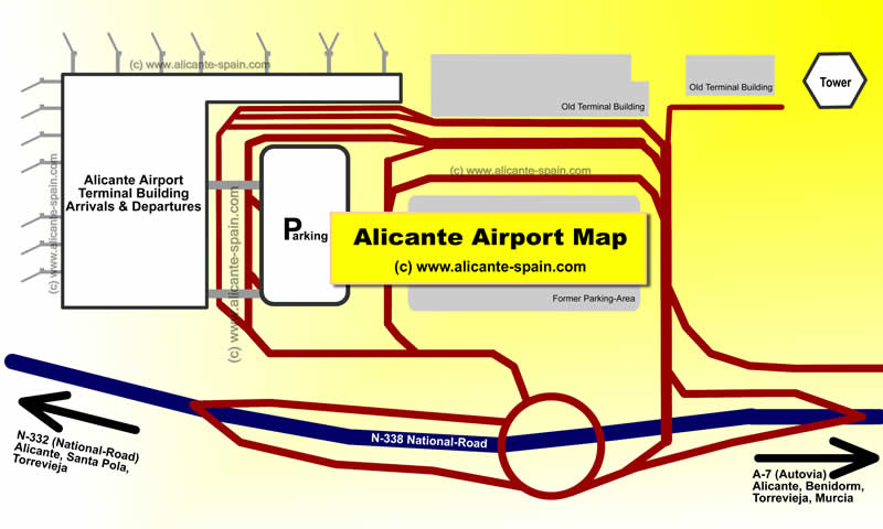 Location of Alicante Airport