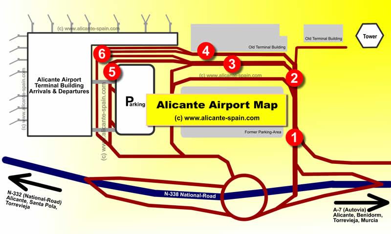 Alicante Airport Maps