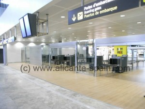 Security Check Area at Alicante Airport