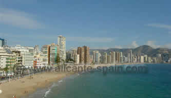 The beach of Benidorm