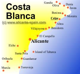 Calpe Map