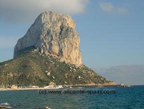 The Penon de lfach in Calpe Spain