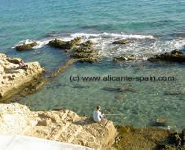 Ruins of roman bath in Calpe