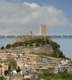 Biar Castle and Old Town Centre