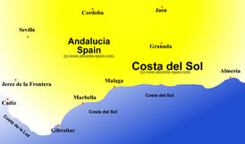 enlarge view of this costa del sol map