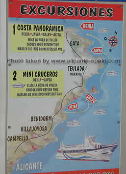 Ship Cruises to Javea Calpe Altea