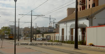 train station for tram and railway in campello