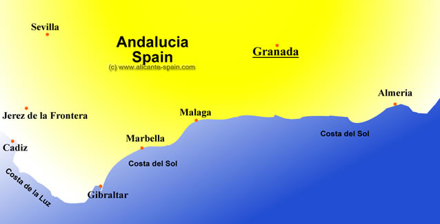 Map Of Spain Granada.A Good Map Of Granada Spain