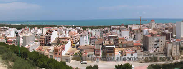 Panorama View at Guardamar del Segura