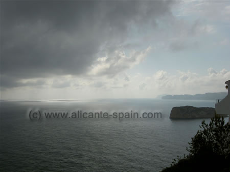View from the cabo la nao near Javea Spain