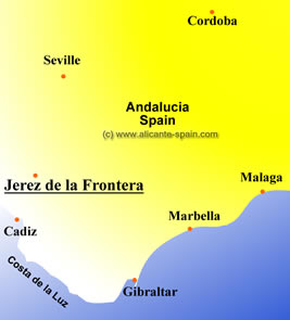 jerez spain map enlarge