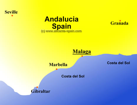 A Good Map of Malaga Spain Map Of Malaga Spain Area on costa del sol map, venice italy area map, cities in spain malaga map,