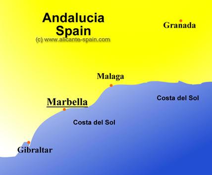 Marbella Map Of Spain.Map Of Marbella Spain