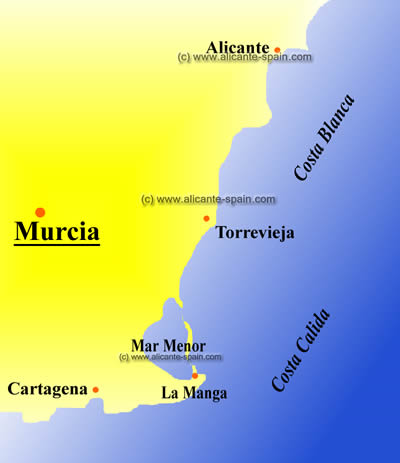 Map Of Spain Murcia.Murcia Map