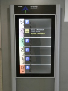 Parking levels at the parking building at Alicante airport