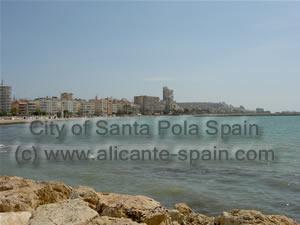 Santa Pola city view