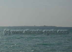 View from Santa Pola to Island of Tabarca