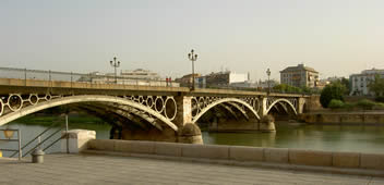 seville spain bridge over the guadaquivir