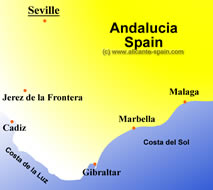 map of seville in spain